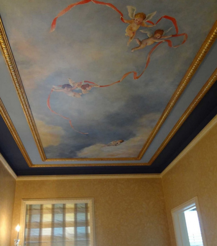 Ceiling Mural of Sky and Puttes