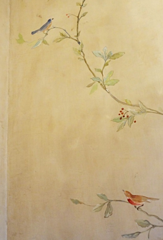 Detail of Powder Room Mural
