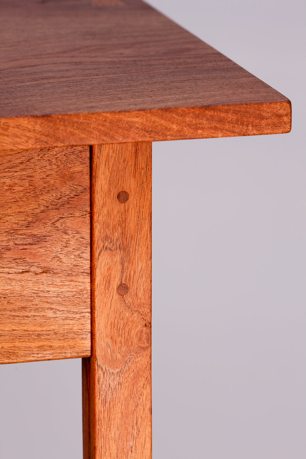 Pegged mortise and tenon detail