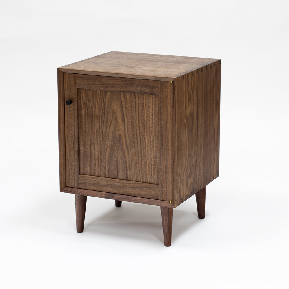 Mid Century Modern Nightstand with door.
