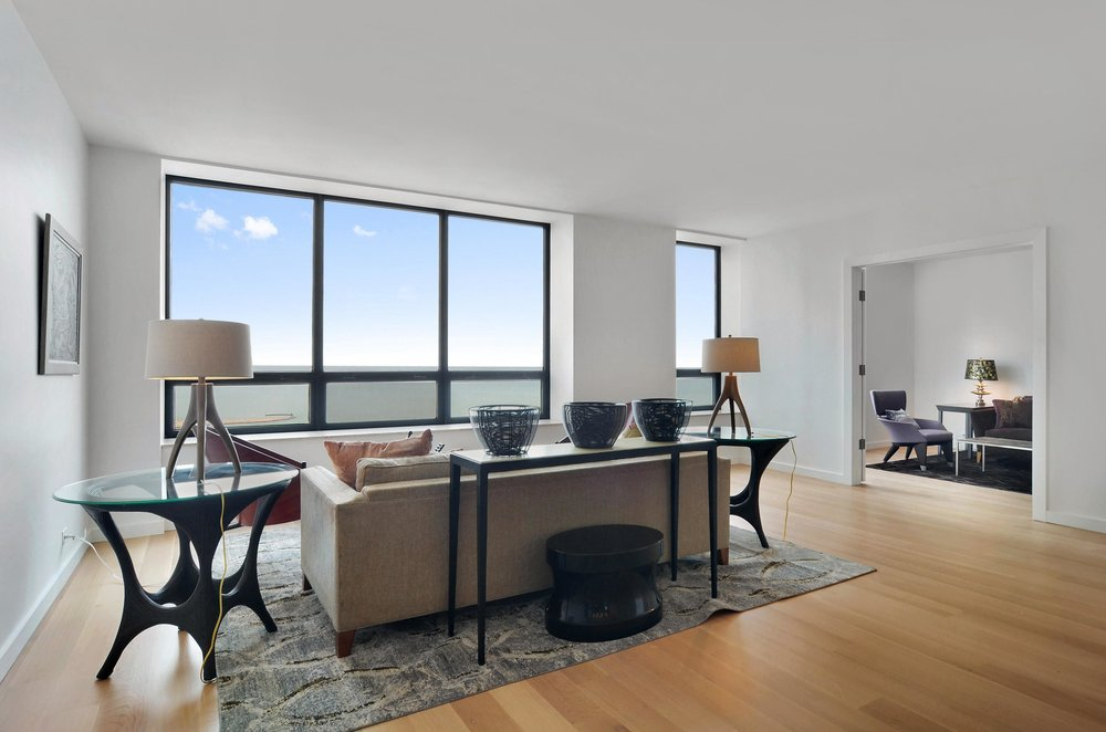 Gold Coast high rise condo living room
