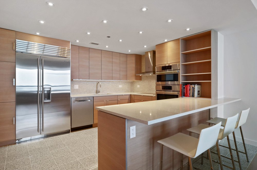 Gold Coast high rise condo kitchen
