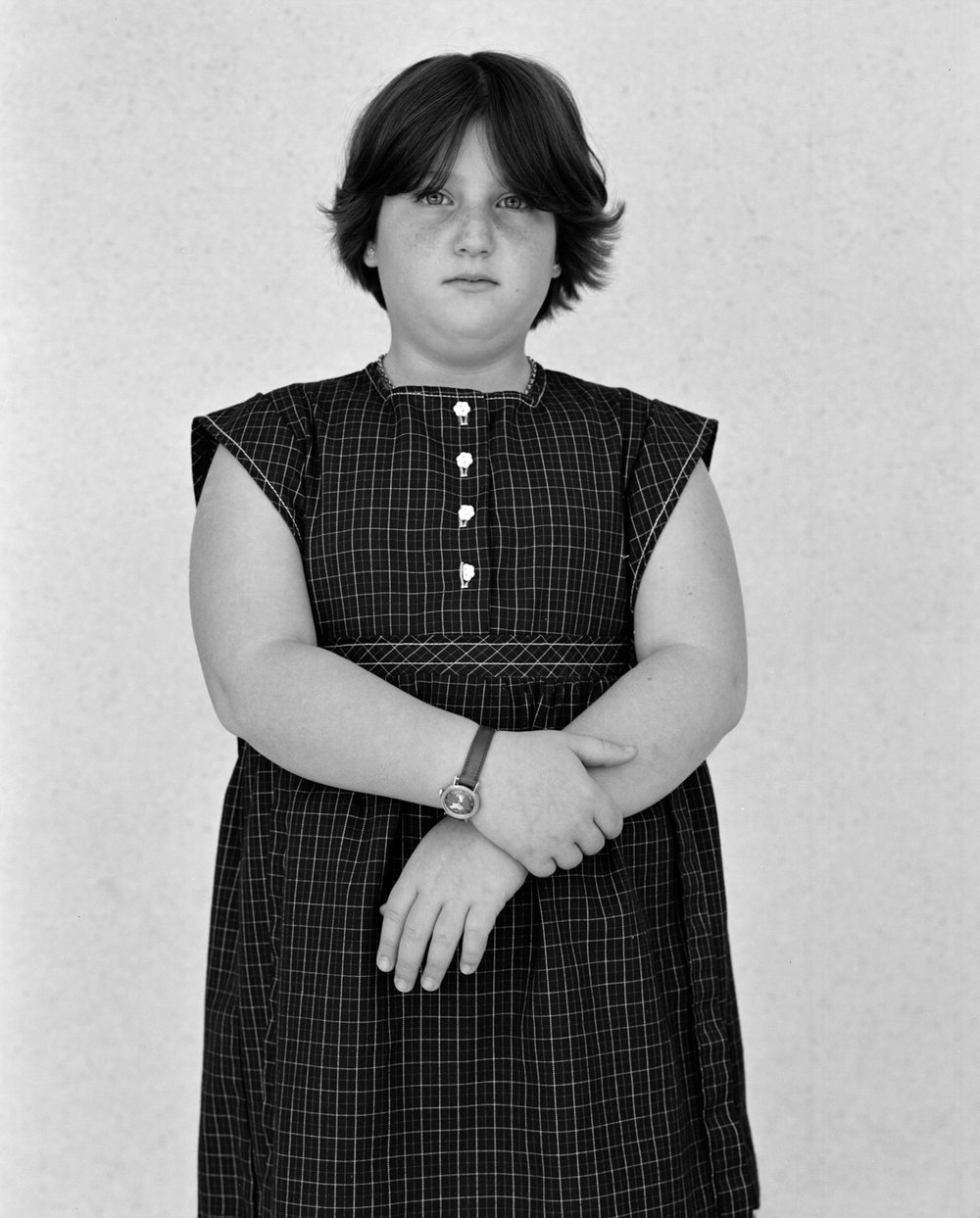 Girl at Temple Beth Israel, Houston, TX, 1975