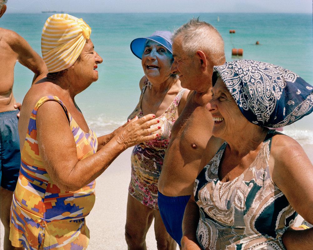 Untitled (Four on Beach)  Miami - South Beach 1982-85