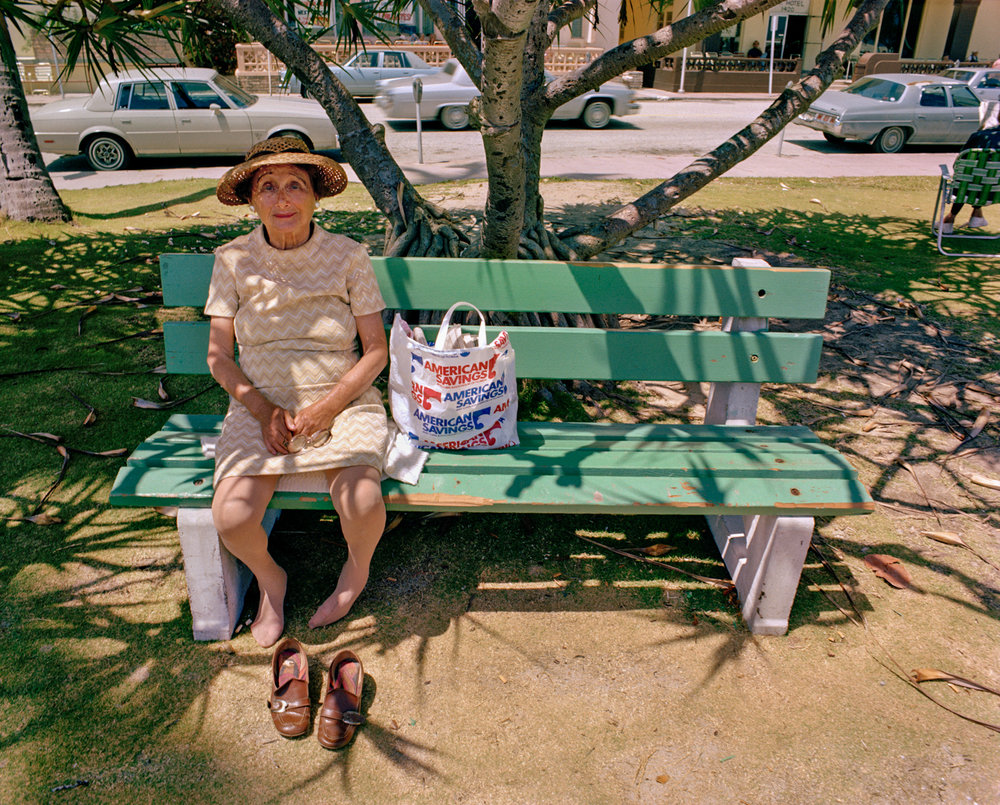Untitled (Woman on Green Bench)   Miami - South Beach 1982-85