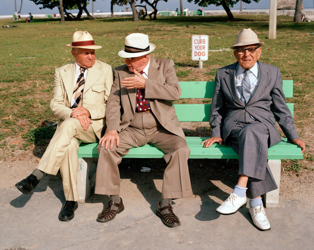 Untitled (Three Men on a Bench)   Miami - South Beach 1982-85