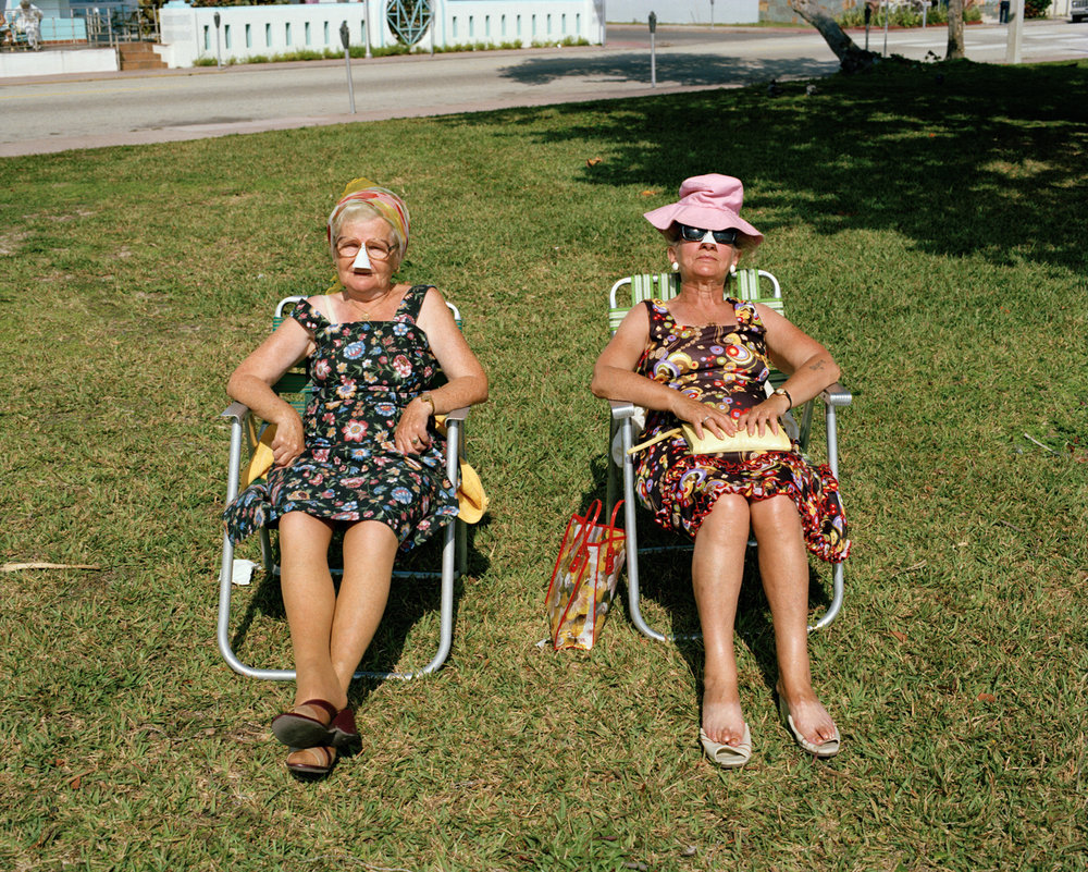Untitled (Two Women on Lawn)   Miami - South Beach 1982-85
