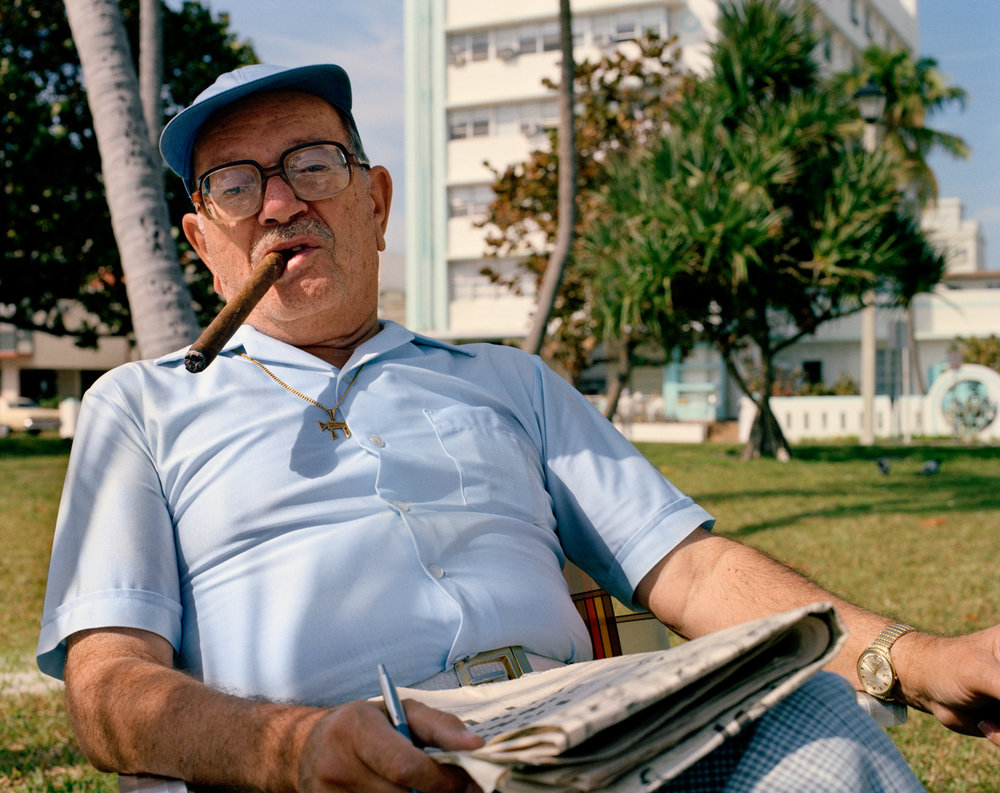 Untitled (Man with Cigar)   Miami - South Beach 1982-85