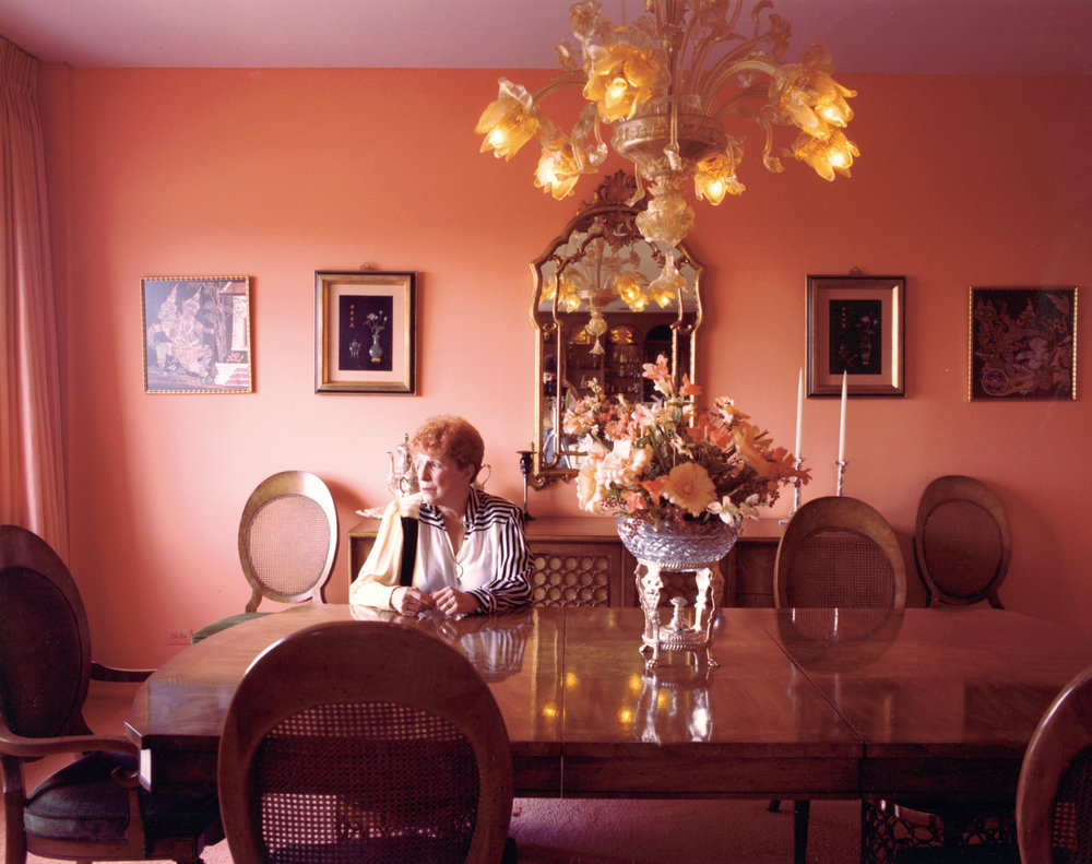Mother in her dining room.