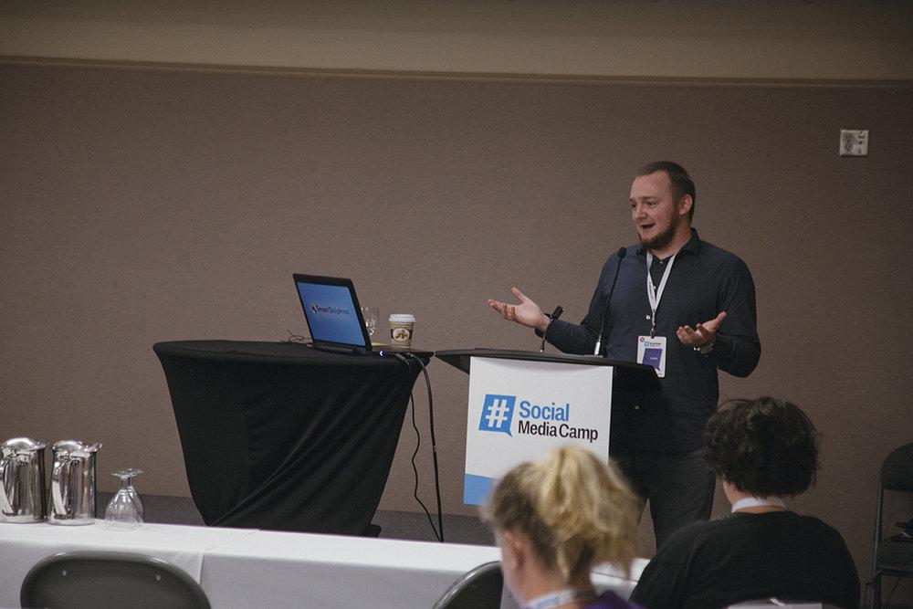 Dakota speaking on Medium at Social Media Camp, Canada's largest social media conference :)