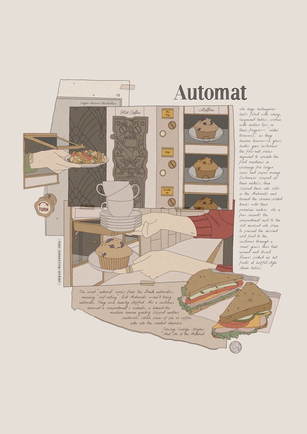 Automat - October 2018: Work created in response to research on old Automat restaurants.
