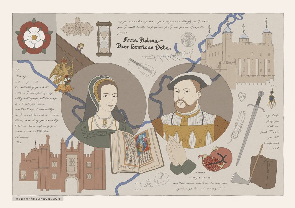 Henry VIII and Anne Boleyn - June 2018 (A3)