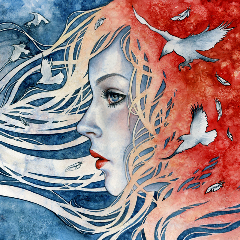 Reverie - Album Artwork created for Carrie WellingWatercolor on Illustration Board// 10