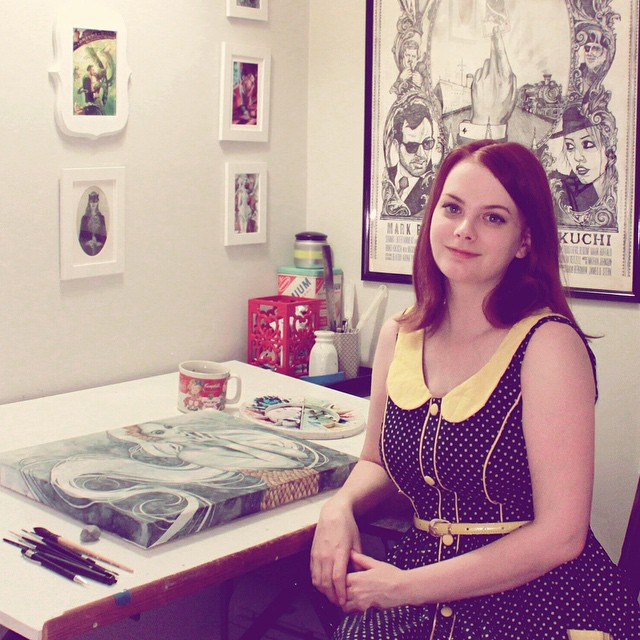 Me in my studio in 2014