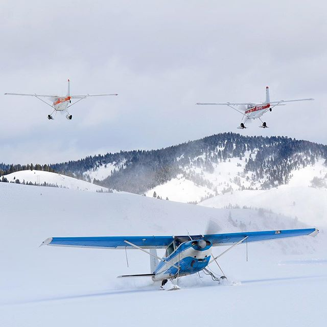 Did you know Winterfest is home to the only #skiplane fly-in in the northwest? Come checkout the snowcovered sawtooths. 📷 Jeffrey Welker . . . . . . #stanleywinterfest #stanleyidaho #winterwonderland #visitidaho #idahodaily #idahome #skiplanes #bushplane #bushpilot #eaa @eaa #thisisidaho #idahogram