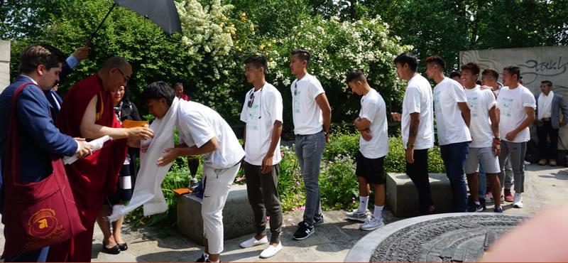 Blessing the Tibetan National Football team