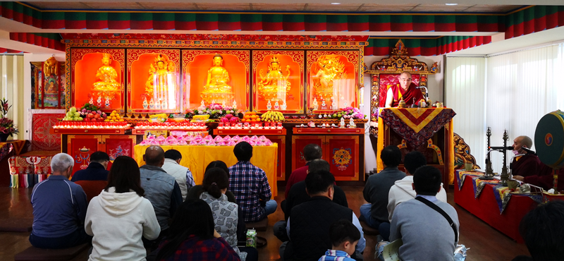 His Holiness visited Martsang Kagyu Taichung Centre, Taiwan