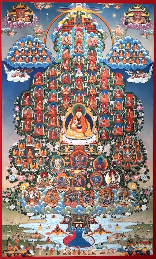 The family Tree of the Martsang Kagyu lineage of Tibetan Buddhism -