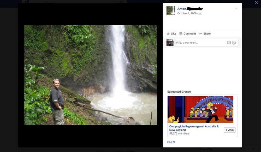 My friend's Facebook account, still active. Anton died in 2014.