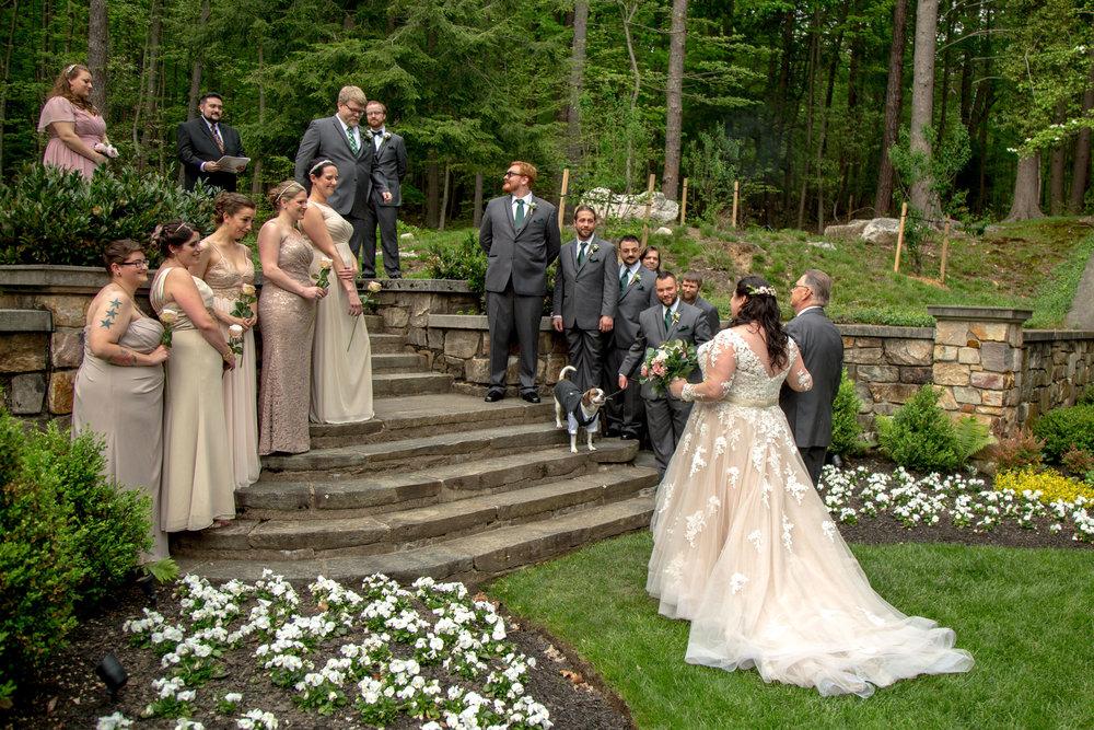 Here comes the bride.