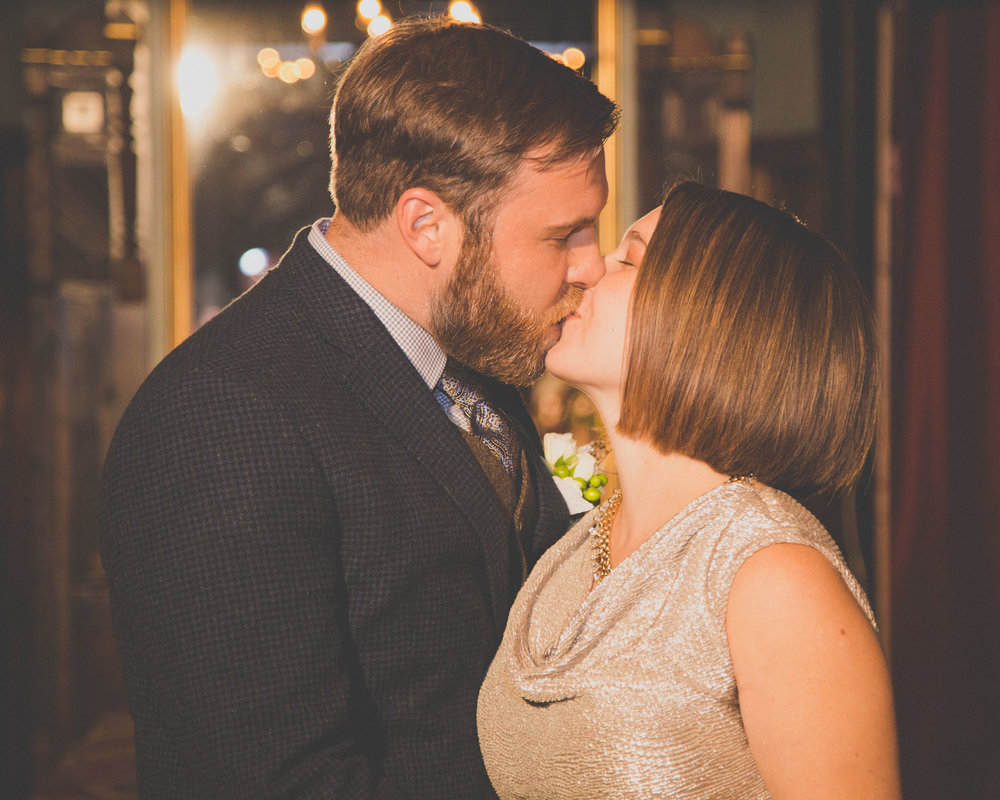 One of many kisses to come as husband and wife.