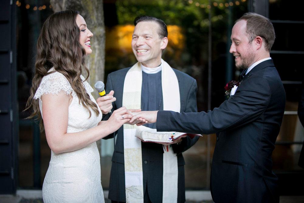Jayme & Nick say their vows.