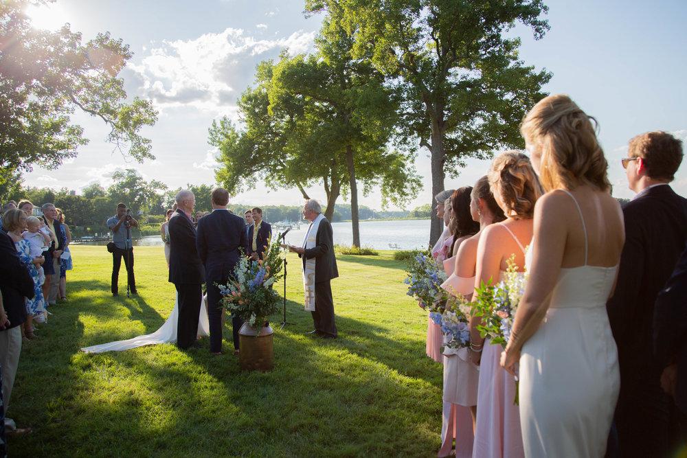 Wedding ceremony bridesmaids