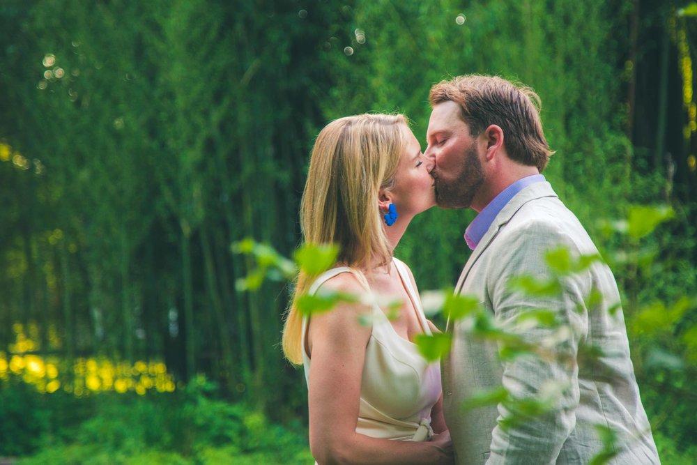 Bethy & Shawn engagement kiss