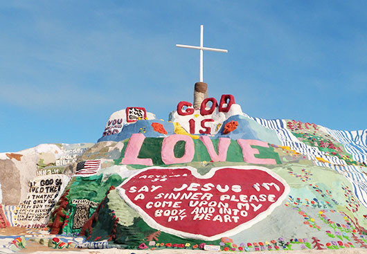 Salvation Mountain avec Monoki