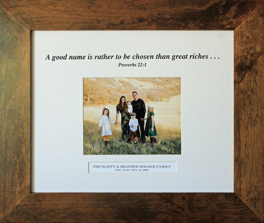 """Family 20""""x16"""" - White, in frame"""