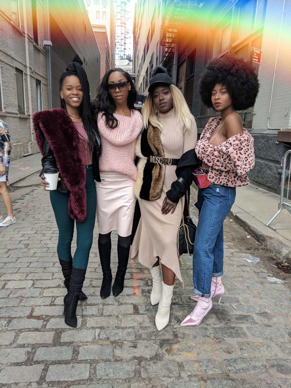 Left to Right: Serée, Chinyere , Amanda, Oriane
