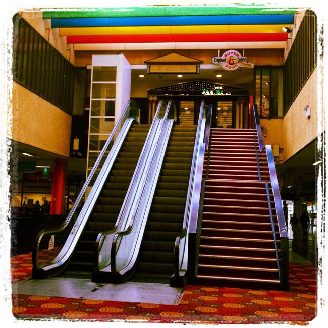 Elephant & Castle shopping centre escalators