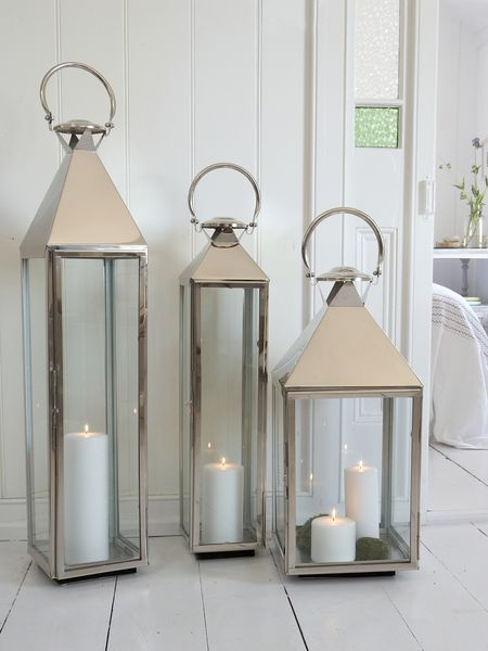 Large Stainless Steel Lanterns