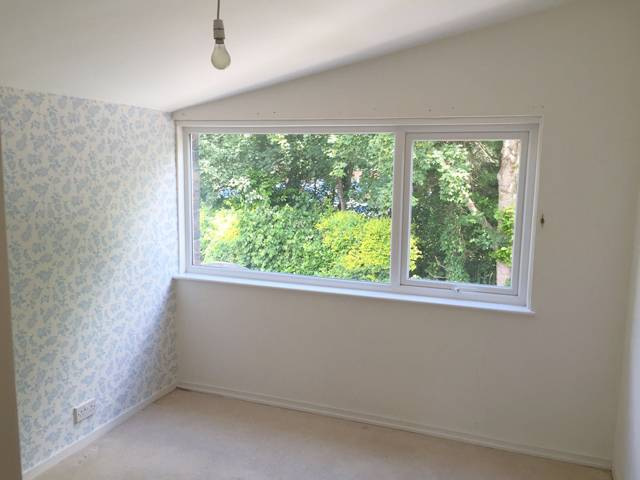 The spare bedroom at the front of the house