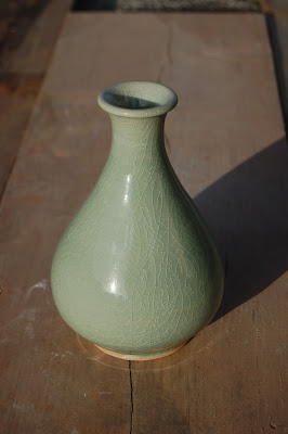 Celadon bottle vase