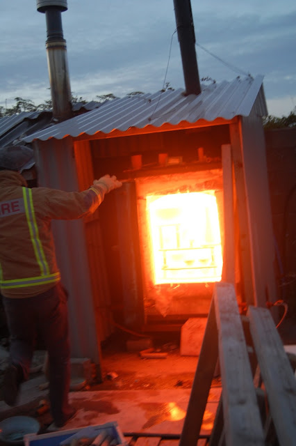 opening the kiln