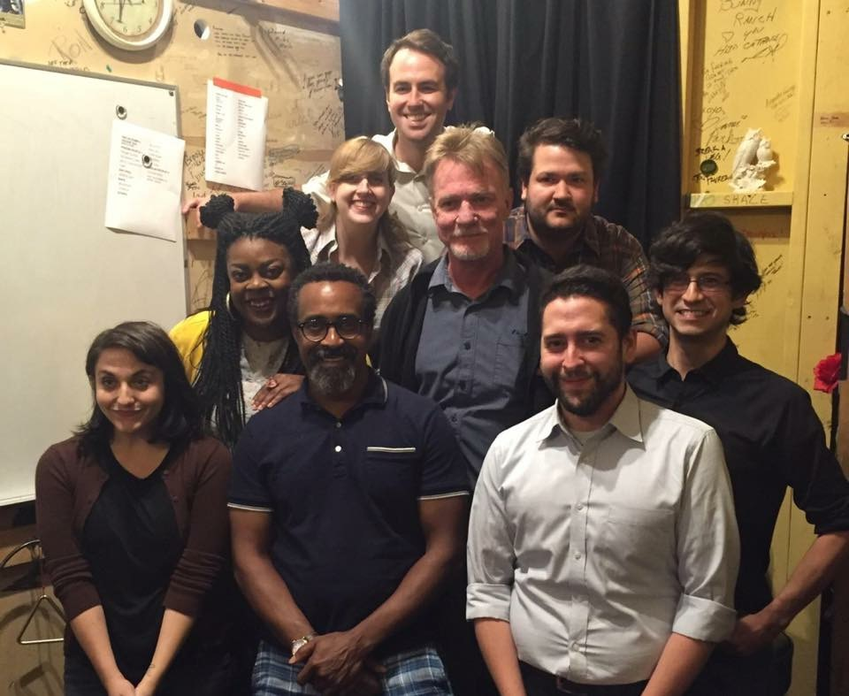 Tim Meadows backstage at Second City