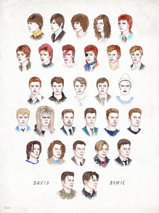 David Bowie. Artist Unknown.