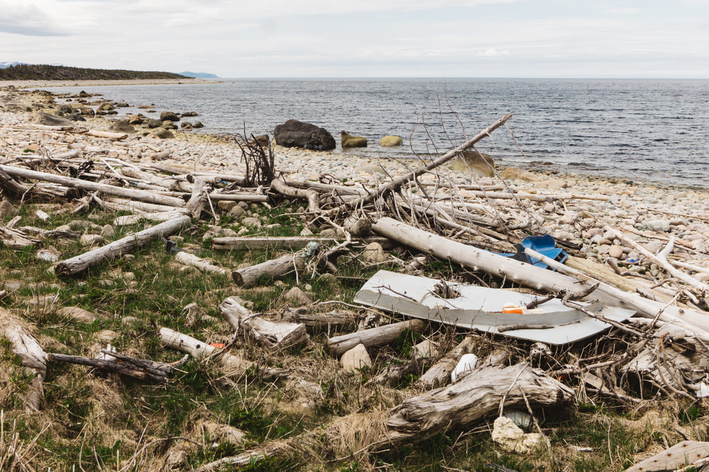 Gros Morne Shore Trash Wash Up