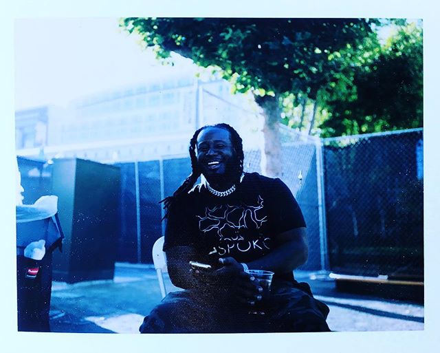 @tpain // jolly dude, nice hang. Shot on fp100c #fujifilm #polaroid #nofilter #impossibleproject #instant #tpain #teddypenderassdown