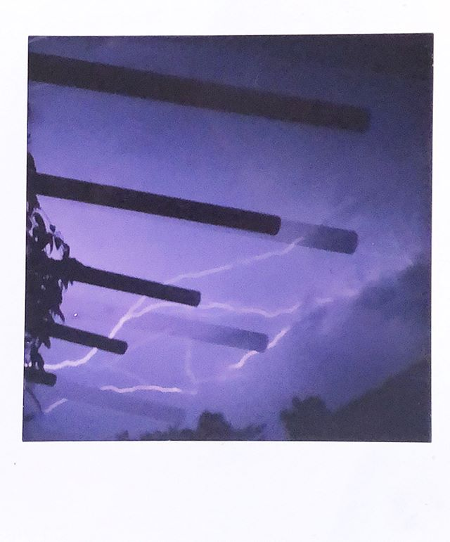 Thunderstorms in Mexico. Captured on #fujifilm #instant #instax #polaroid #nofilter - the new #square film #impossibleproject #thunder #lightning #storm #guerrero