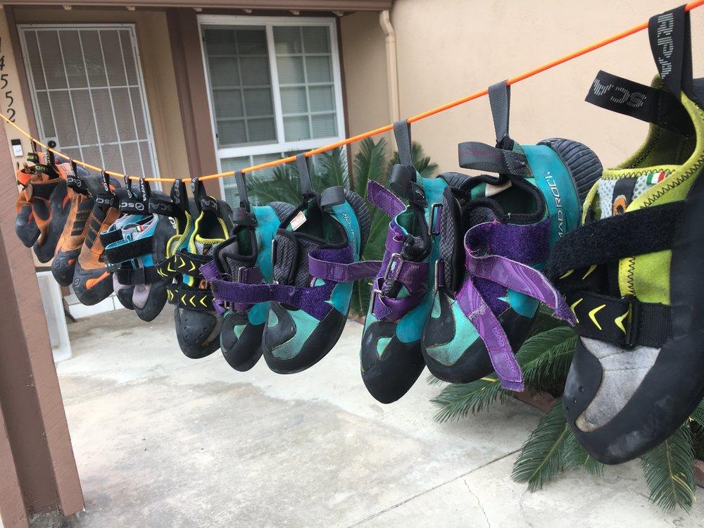 So many stinky shoes.
