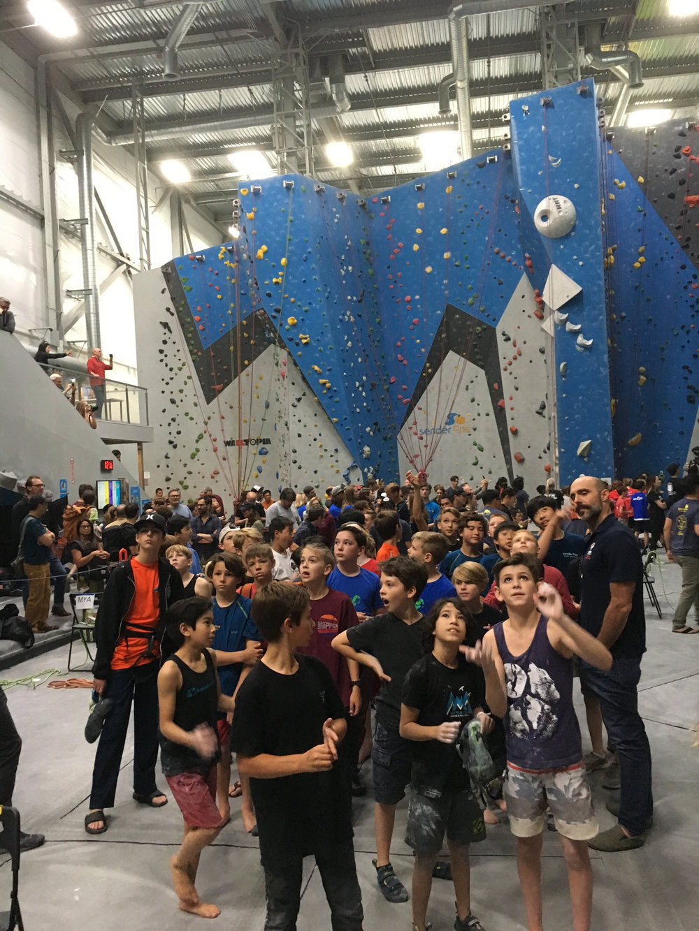 Friends first. - Climbers on different teams often willingly share beta with each other at competitions.