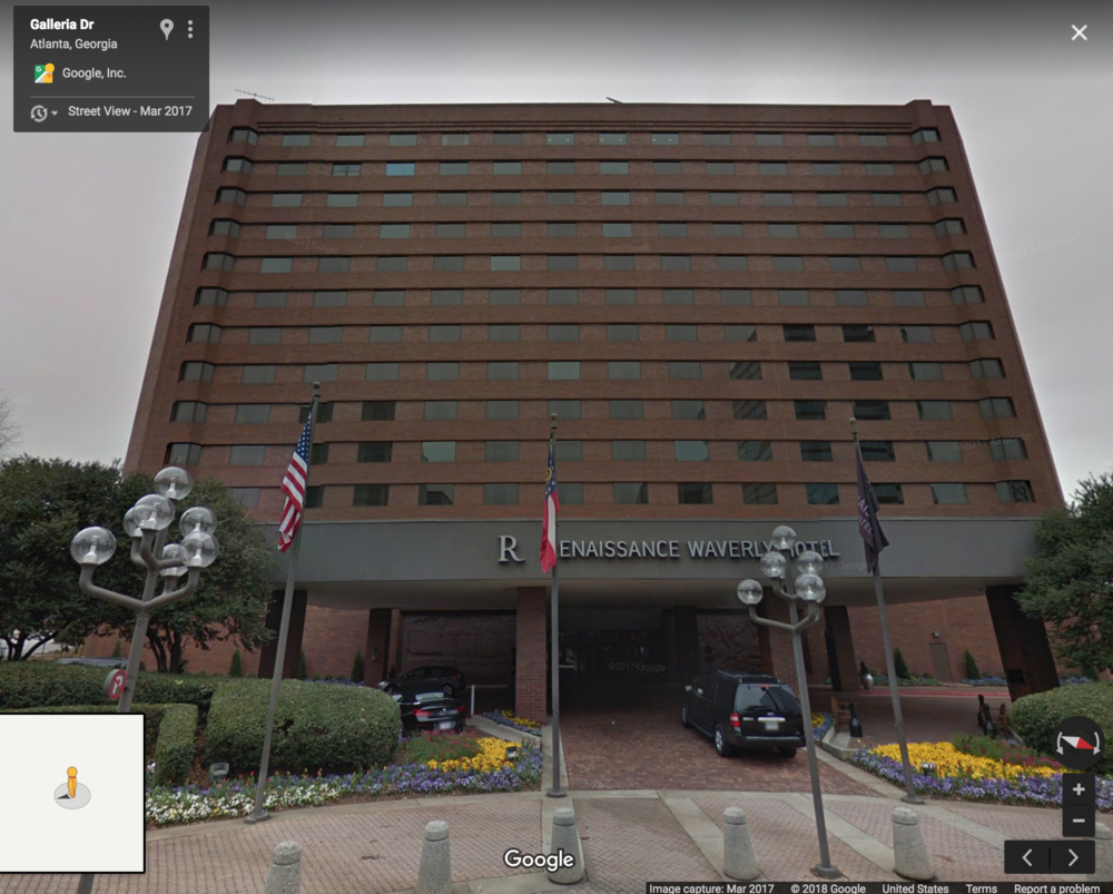 Google Maps: Street View of the Renaissance Atlanta Waverly Hotel