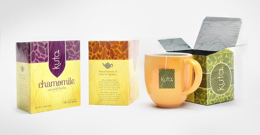 kuta tea package design chey west