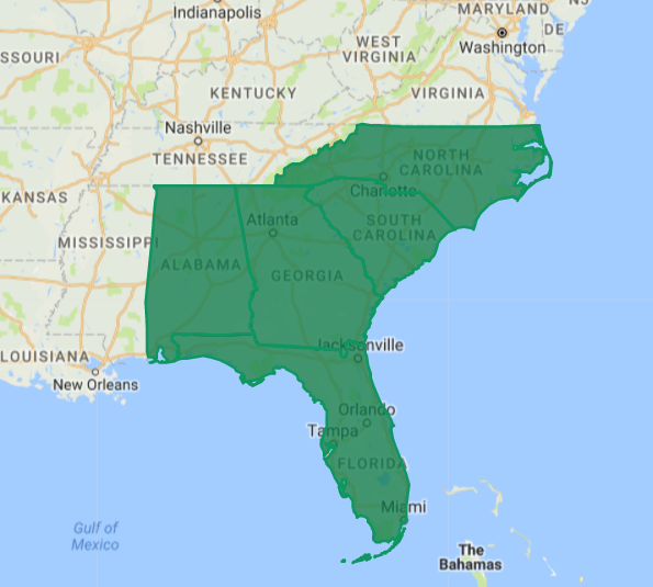 Based in Alpharetta Georgia, Pryor Systems can provide service in most of the South-East US. -