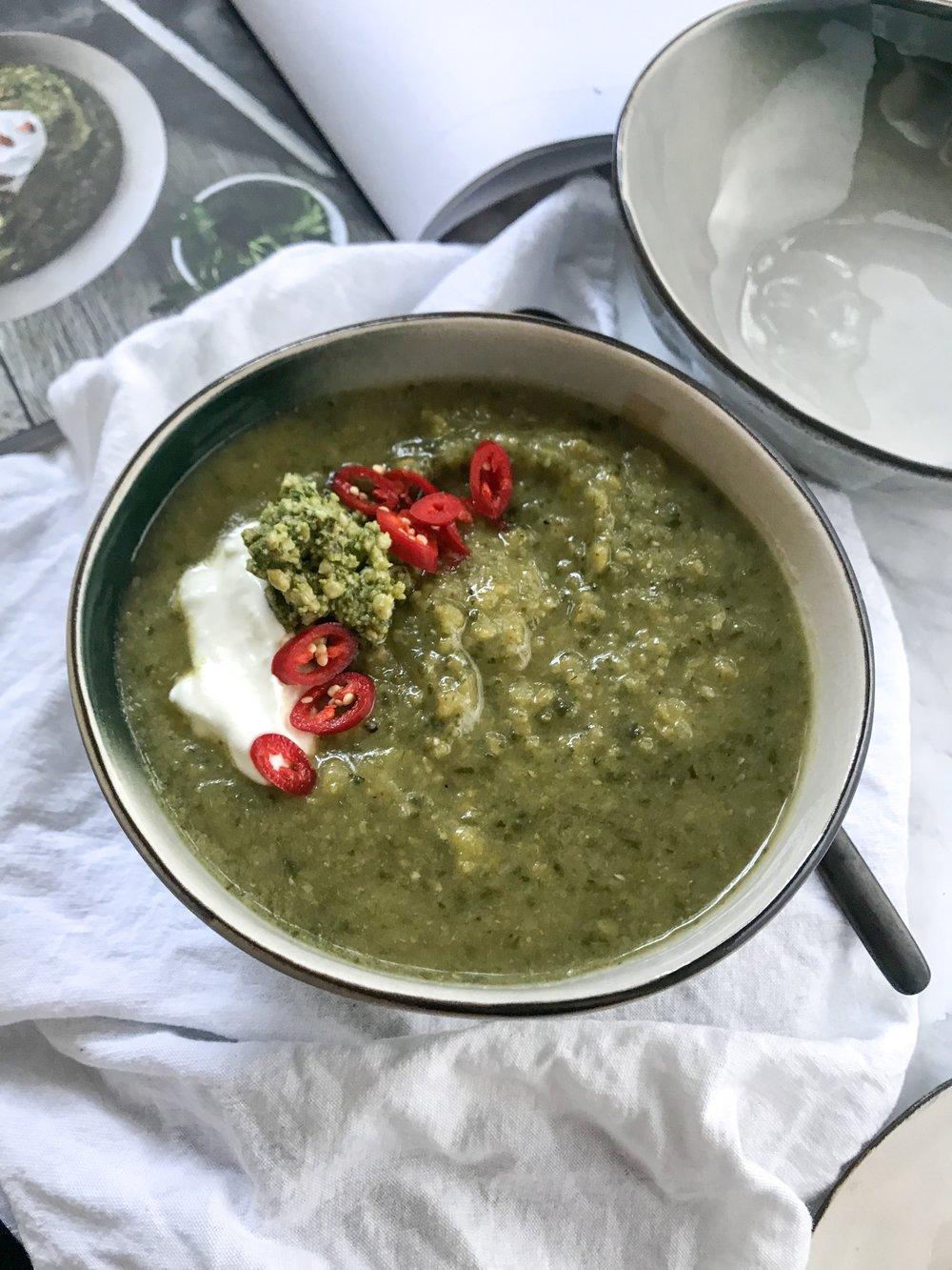 Zucchini Pea Soup