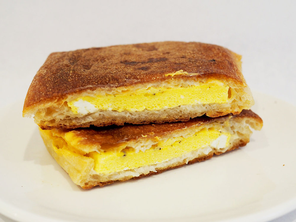 Pressed Egg Sandwich
