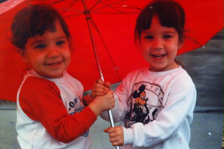 (My twin sister, Lydia, and I on a fun, rainy day spent jumping in puddles in an empty parking lot.)