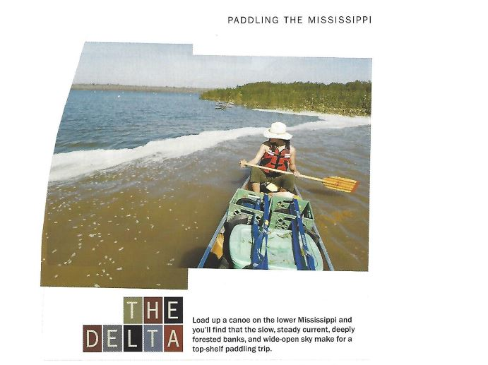 Paddling the Mississippi Delta